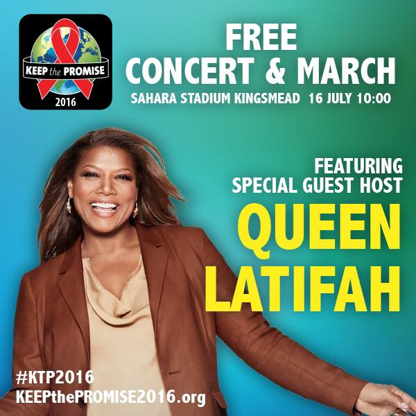Concert collateral featuring Queen Latifah