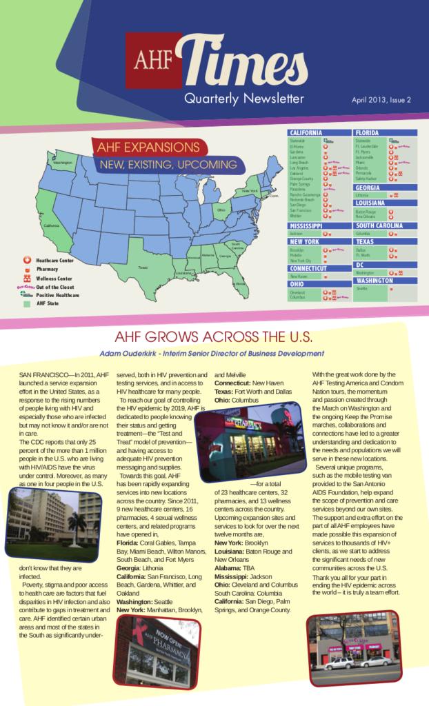 Employee Newsletter, April 2013